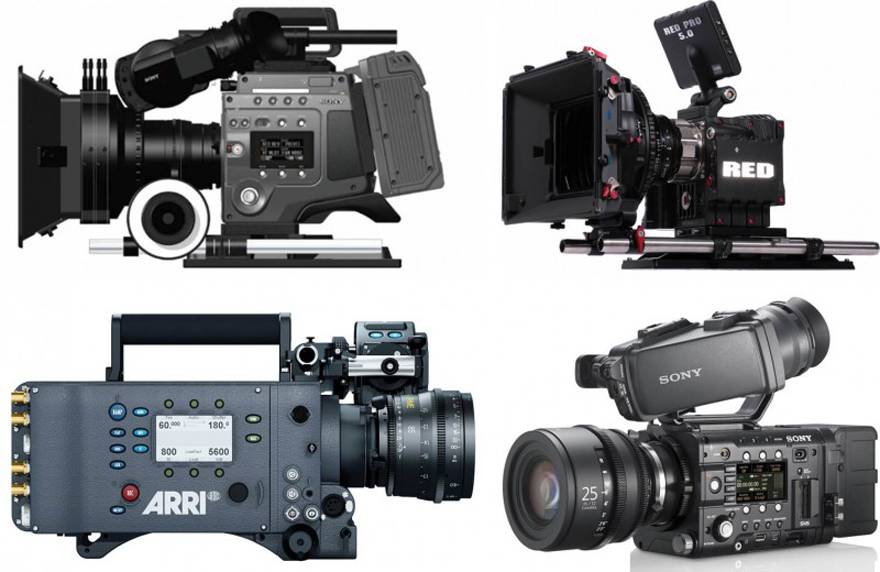 ARRI_Alexa_RED_Epic_SONY_F65_F55